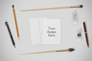 Card A6 mockup CREATOR stationery