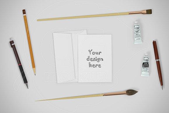 Card A6 mockup CREATOR stationery