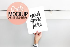 Quote mockup, styled stock photo