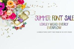 Summer Font Sale