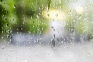 Blurred background of raindrop