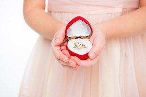 Girl holding ring