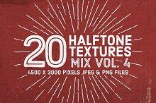 20 Halftone Textures Mix Vol. 4