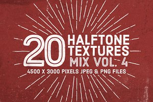 20 Halftone Textures Mix Vol. 4