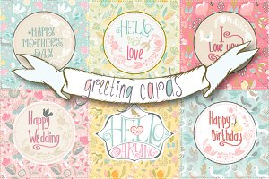 Set of greeting cards.