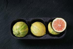 Citrus fruit pink tiger lemon