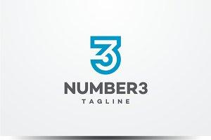 Number Three 3 Logo