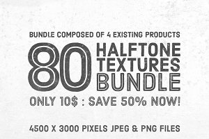 50% OFF: 80 Halftone Textures Bundle