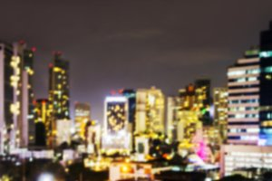 Blurred background city at night