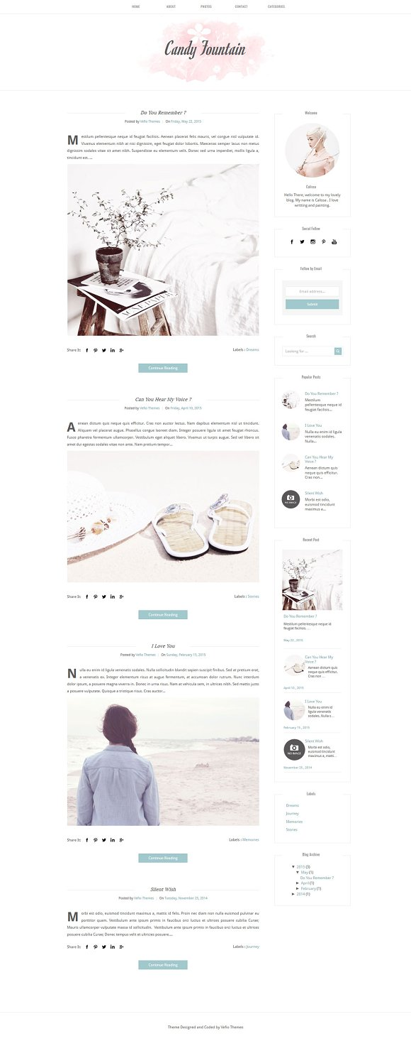 Blogger Template CANDY FOUNTAIN