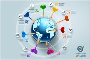 Business World Target Infographics.