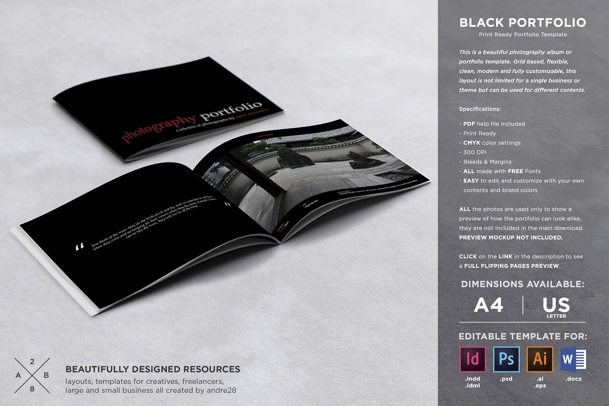 Photography Album Portfolio Template ~ Brochure Templates