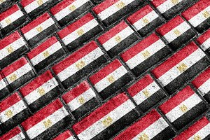 Egypt Flag Grunge Pattern