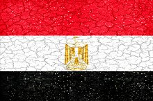 Egypt Flag Grunge Style