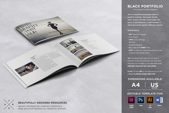 Photography portfolio template brochure templates creative market flashek Image collections