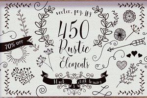 450 Rustic Elements 70% OFF