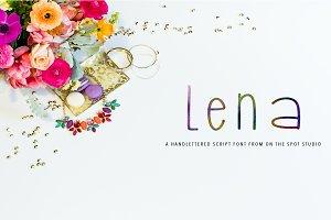 Lena - Handlettered Font