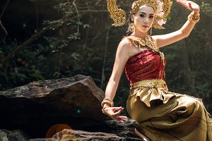 Traditional Thai dress concept