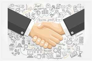 Business Handshake Infographics.