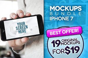 19 Mockups iPhone (pics+PSD)