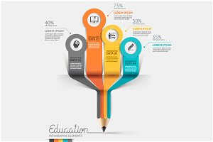 Education Step Option Infographics.