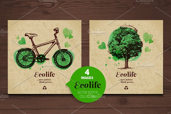 Eco Poster Vector Collection
