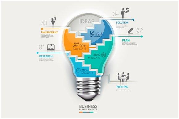 Business Lightbulb Infographics.