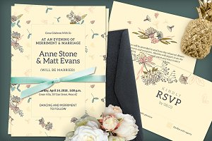 Beige Wedding Invitation