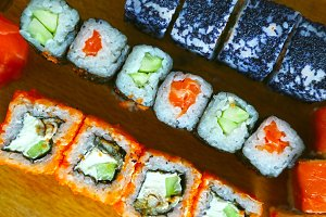 sushi california phyladelphia rolls
