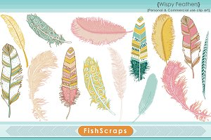 Aztec Pink Tribal Feather Clip Art