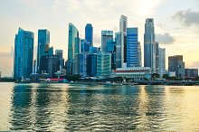Downtown sunset Singapore