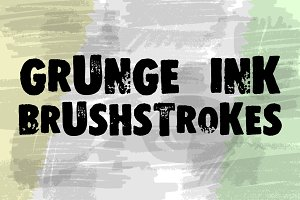 Vector set of grunge brushstrokes