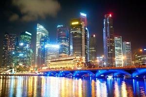Night skyline Singapore