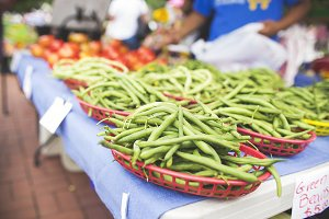 Green beans at Farmer's Market