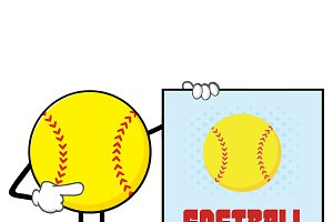 Softball Faceless Character