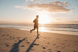 Runner running in morning