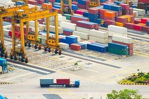 Singapoe port. Work in progress