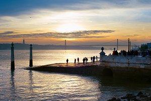 Lisbon embankment view. Portugal
