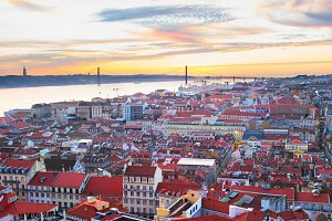 Lisbon overview. Portugal