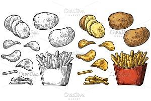 French fry stick potato chips