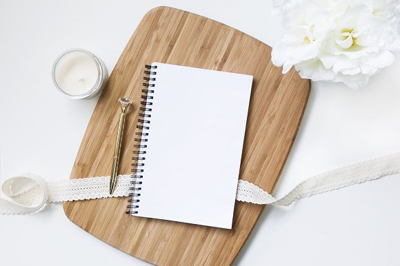 Notebook Styled Stock Image