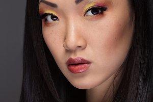 Portrait of handsome asian girl