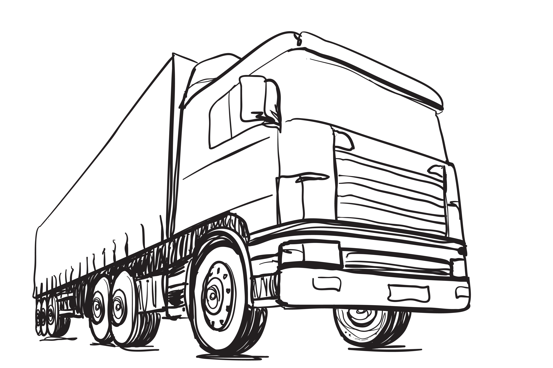 Sketching truck. Logistics ~ Illustrations ~ Creative Market