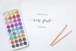 Font Ad Mockup