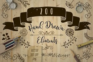 200 Decorative Elements.