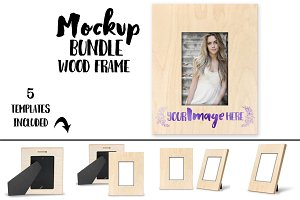 Wood Sublimation Frame Mockup