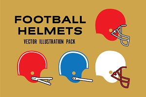 Football Helmet Silhouettes
