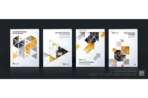 Business vector template mega set. Brochure layout, cover modern