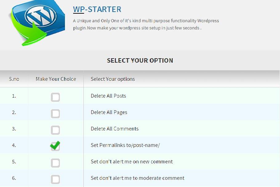 WP Starter