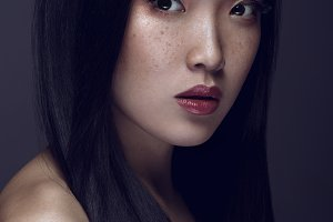 Beauty Portrait of Young asian girl